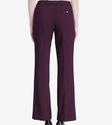 Calvin Klein Women's Modern Fit Burgundy Pants Size 14