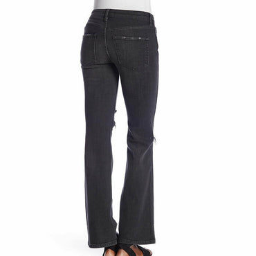 Free People Women's Black Distressed Flared Leg Jeans Size 29 $98 #694