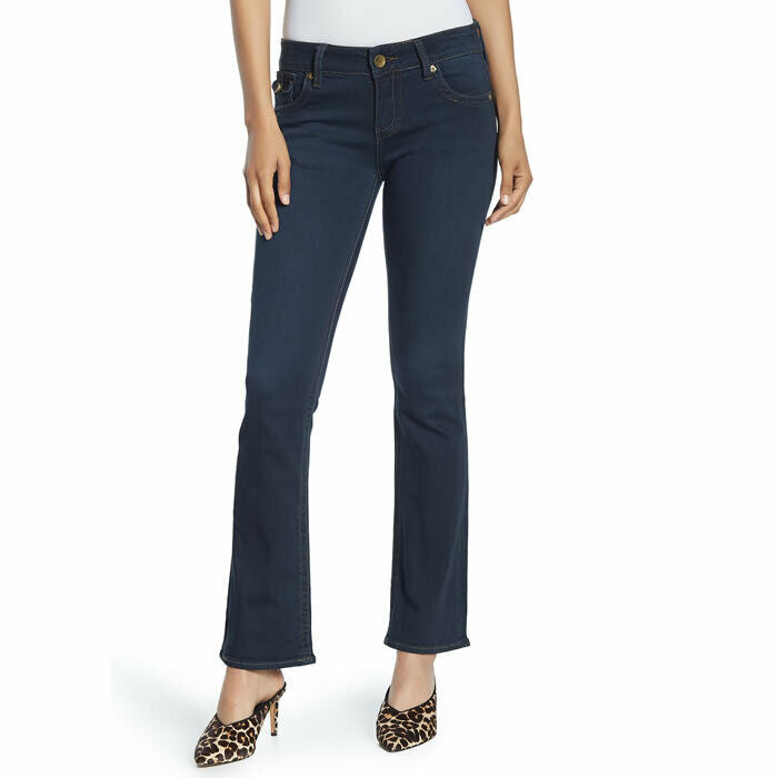 KUT From The Kloth Natalie High Rise Waist Blue Denim Stretch Jeans Size 14