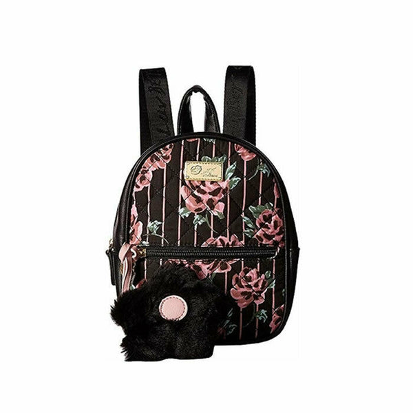 Luv Betsey by Betsey Johnson Sadie PVC Rose Floral Quilted Mini Backpack