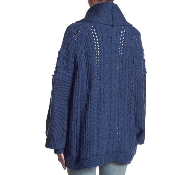 Free People Partial Front Zip Knit Pullover Sweater Size M NWT