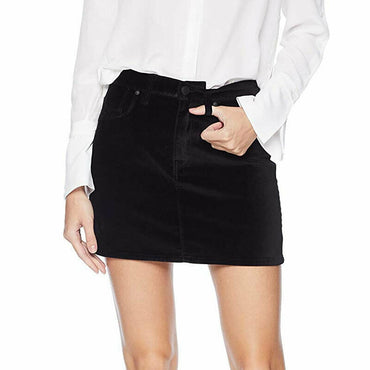 Hudson Jeans The Viper Black Velvet Mini Skirt Women's Size 29 NWT $175