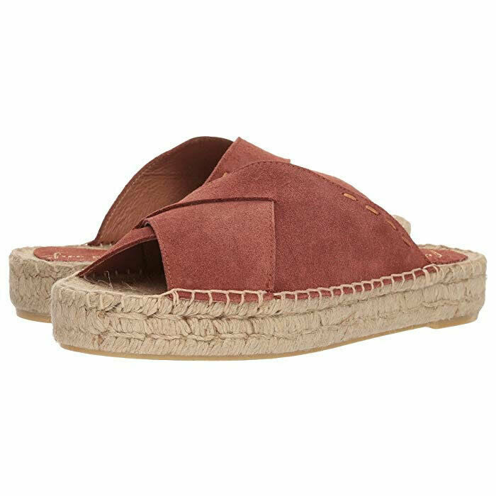 Free People Womens Tuscan Open Toe Casual Boho Espadrille Sandals, Brown, Size 8