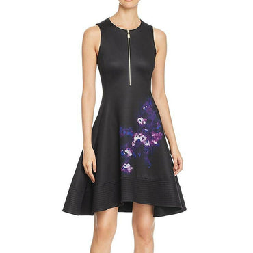 Donna Karan Womens Black A-Line Knee-Length Work Wear Scuba Dress Size M