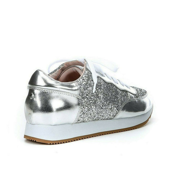 Kate Spade Women's Felicia Glitter Lace Up Fashion Sneakers Size 8M