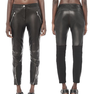 Alexander Wang Leather Moto Pants Size 8