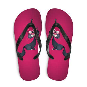 Caturday Shoes Humor Cat Lover Summer Flip-Flop Sandals