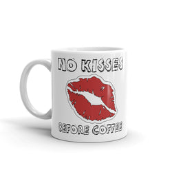 No Kisses Before Coffee Humor Coffee Mug