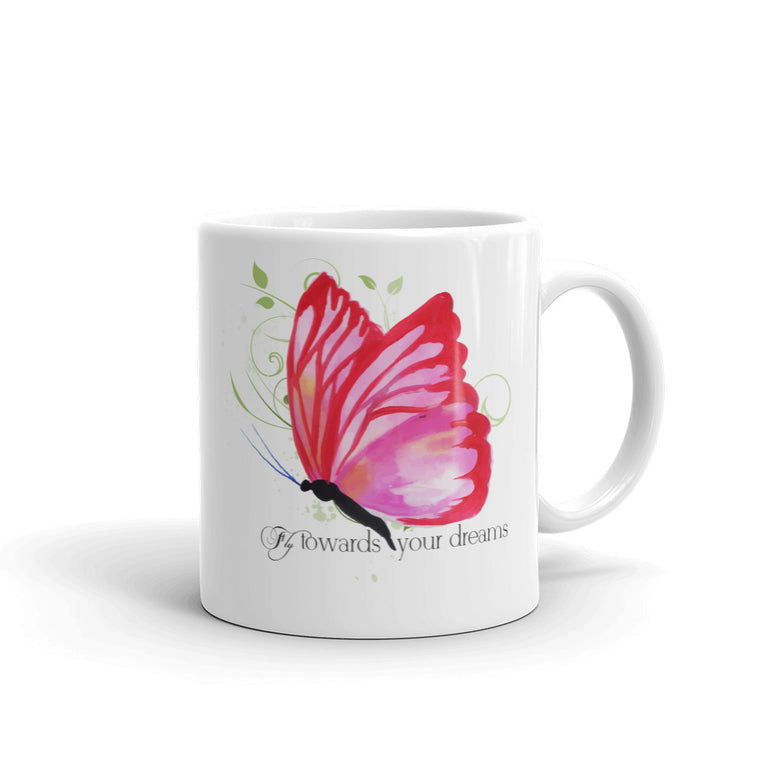 Fly Towards Your Dreams Inspiration Coffee Mug