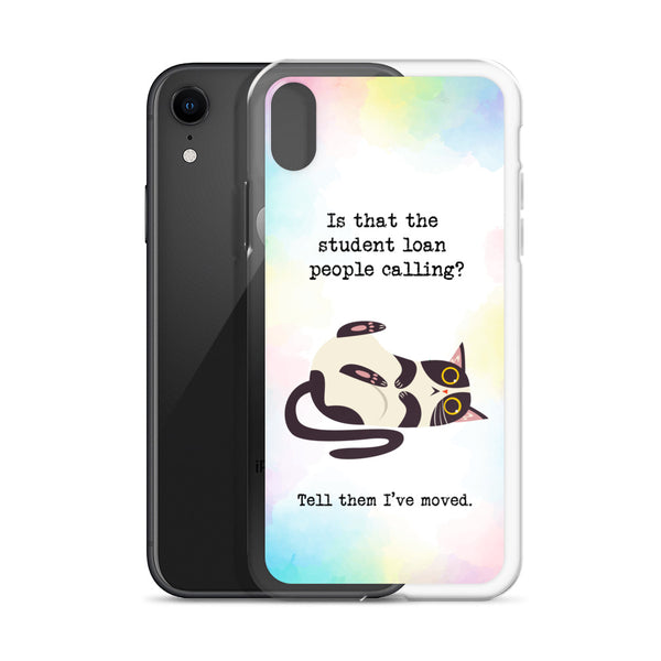 Funny Kitty Dodges Student Debt Humorous Phone Case