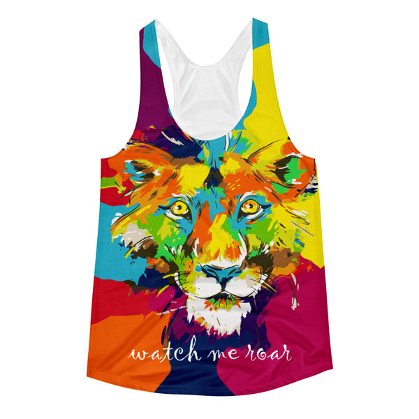 Watch Me Roar Women's Racerback Tank Top