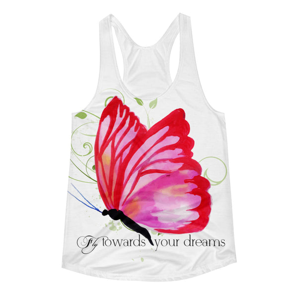 Fly Towards Your Dream Women's Racerback Tank Top