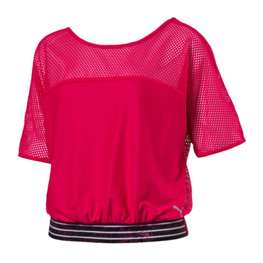 PUMA Active Training Women's Explosive Pink Mesh Top Size L