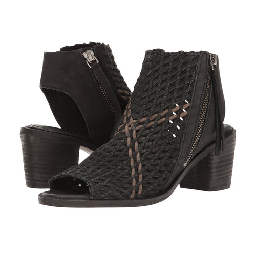 Sam Edelman Cooper Peep-toe Shootie Style Sandals in Black