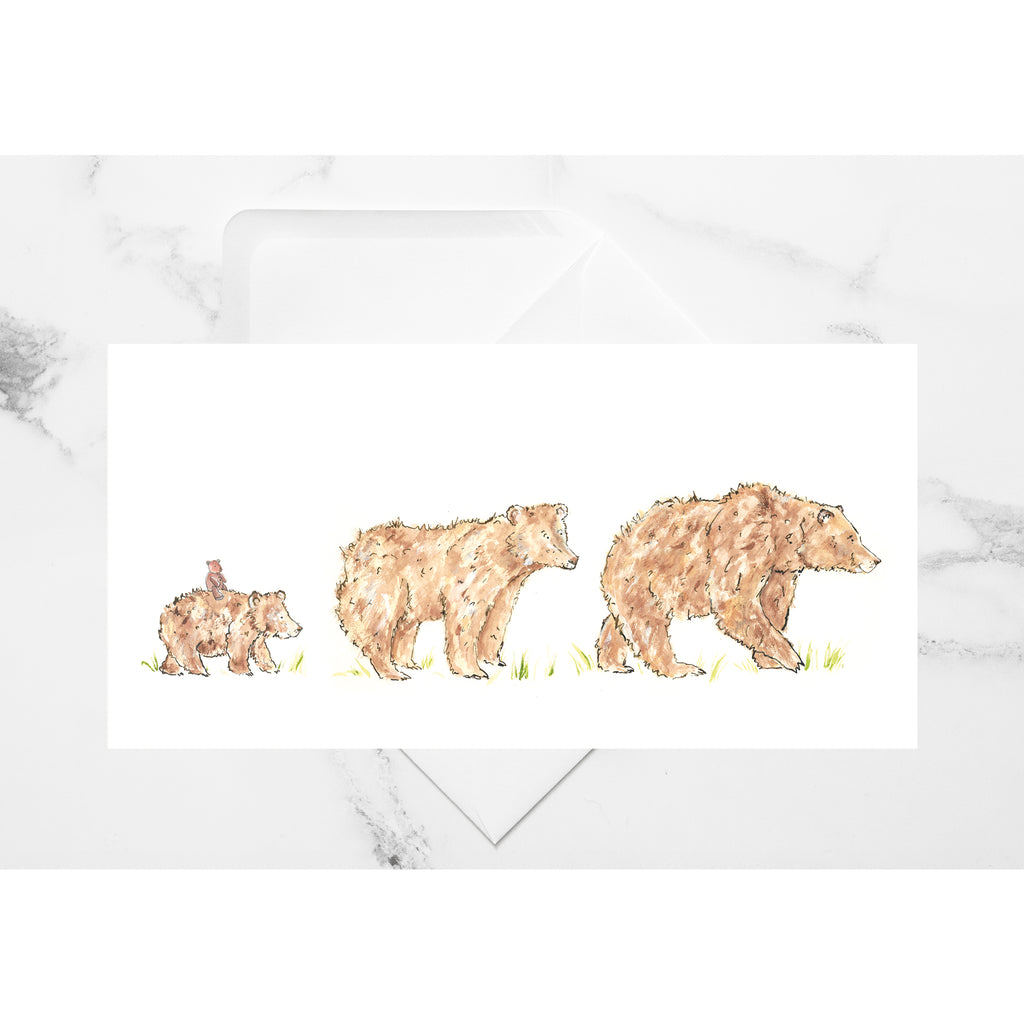 Bear Family Follow Me Card - Charlotte England Artist