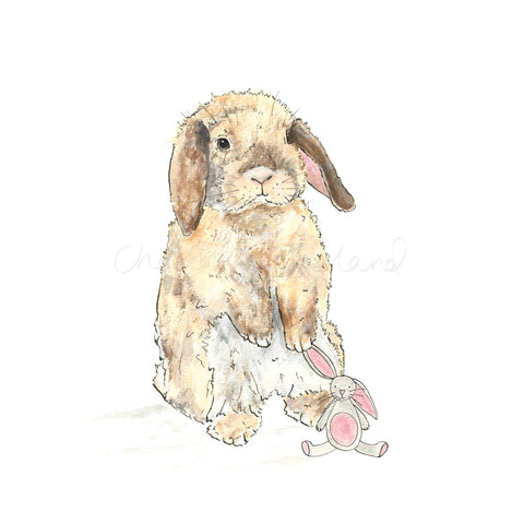 Bunny and Teddy - Charlotte England Artist