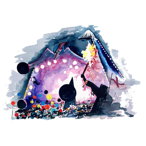 Coldplay At Glastonbury 2016 A4 Print