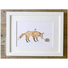 Fox And Friends A4 Framed Print