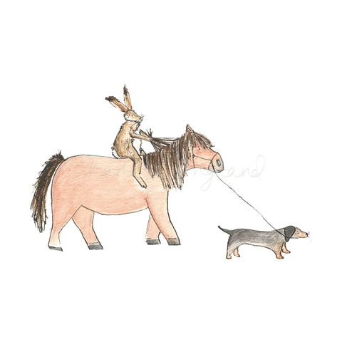 Off For A Hack! A4 Print