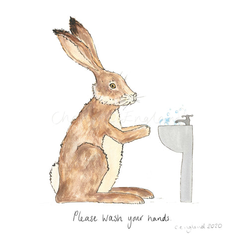 Wash Your Hands Charity Print