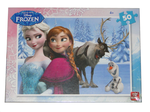 disney frozen cars and planes childrens 50 piece jigsaw puzzle