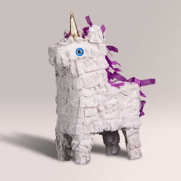 White Unicorn Piñatagram (Filled with Candy)