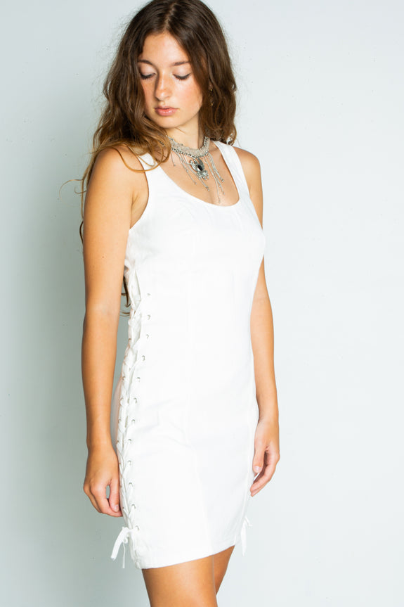 Mink Pink Rodeo Lace Up Dress