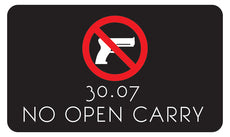 No Open Carry Signs