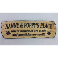 Wooden Nanny & Poppys Place Sign - Medium