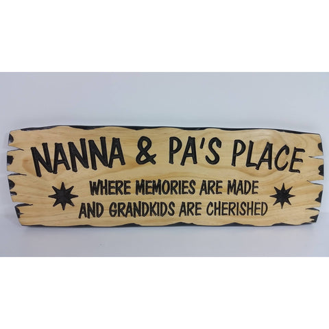 Wooden Nanna and Pa's Place - Medium
