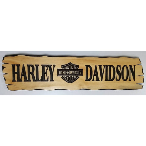 Wooden Harley Davidson sign-large
