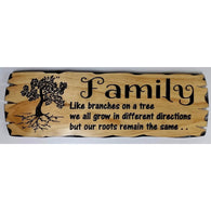 Wooden Family Tree sign-medium