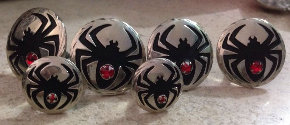 CBCONCH 127 Black Widow Conchos