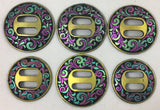 CBCONCH 132 Rainbow Floral Slotted Conchos