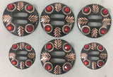 CBCONCH 149 Red Stone Conchos