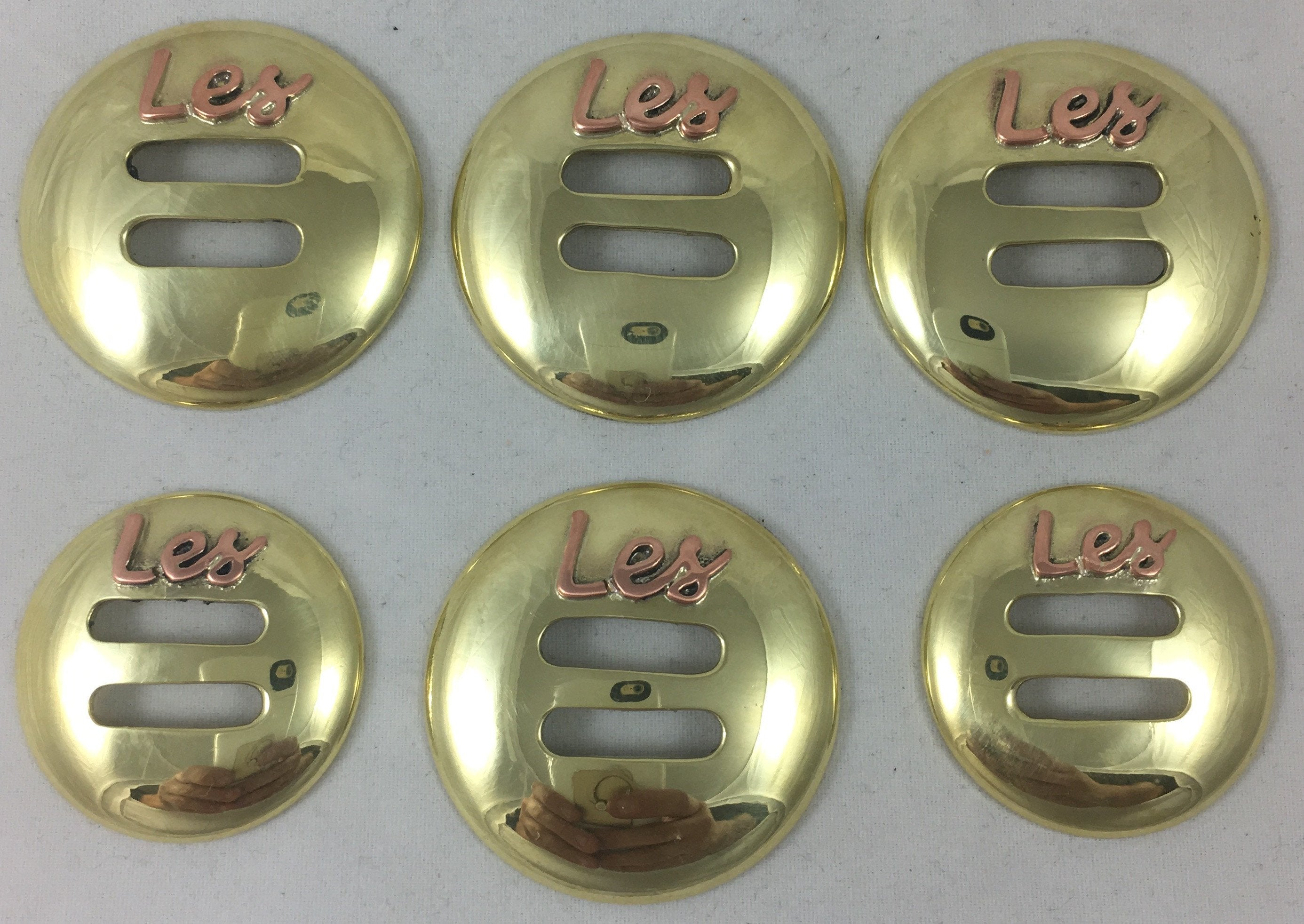 CBCONCH 155A Brass Slotted Conchos