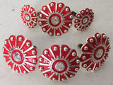 CBCONCH 119 Red Wagon Wheel Conchos