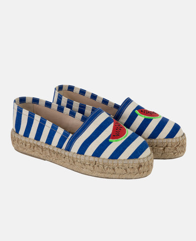 WATERMELON STRIPES ESPADRILLES