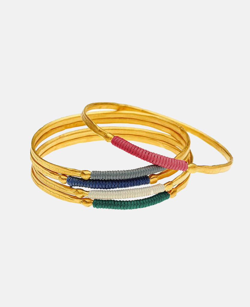 """CHROMATA"" BANGLES GOLD"