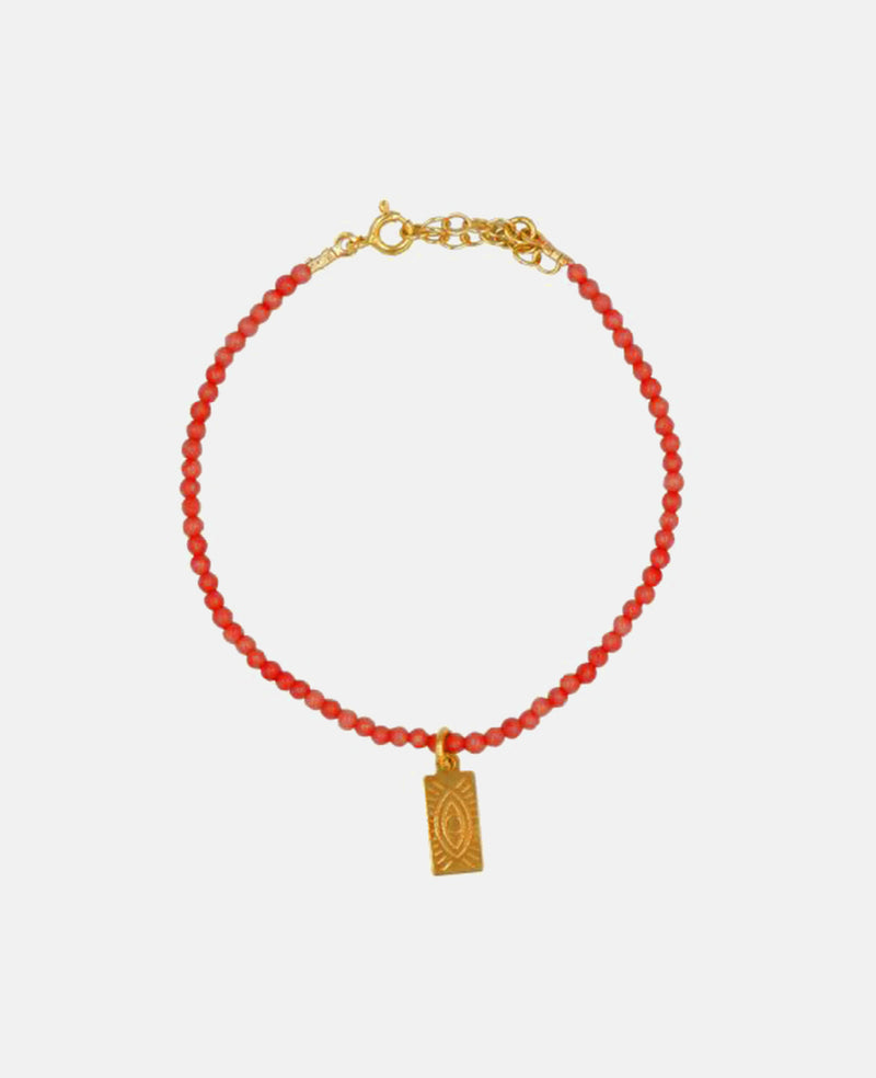 TAG BRACELET RED CRYSTAL