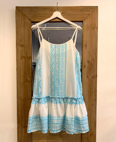 SHORT BEACH DRESS FRESH BLUE