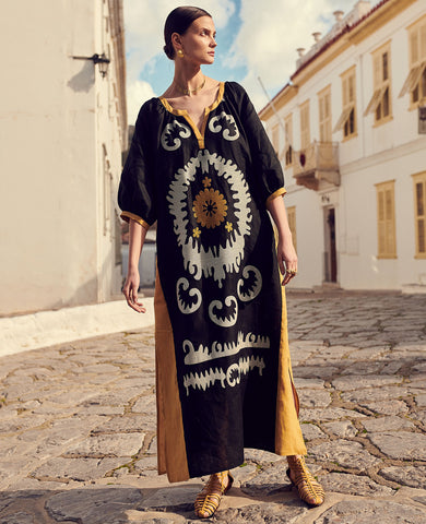 "LONG KAFTAN DRESS ""PNOE"""