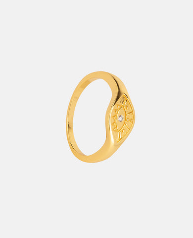 "RING ""EVIL EYE"" GOLD"