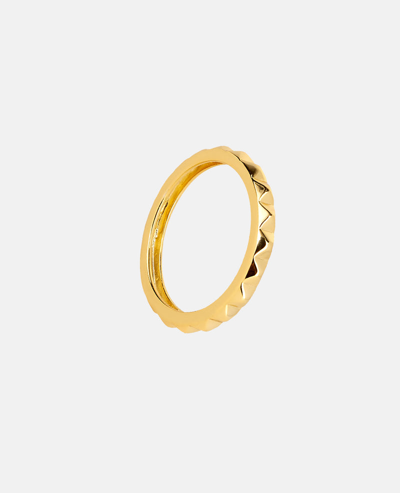 "RING ""GRID"" GOLD"