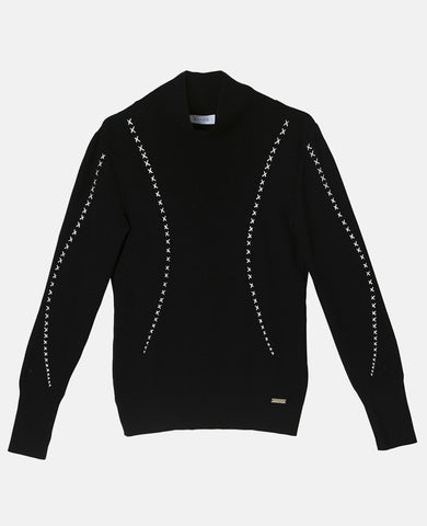 "EMBROIDERED SWEATER ""PELION"" BLACK"