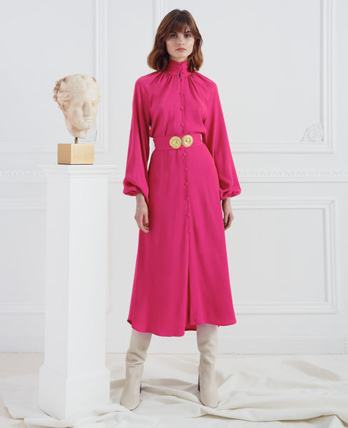 FUCHSIA HELIOS SHIRT DRESS