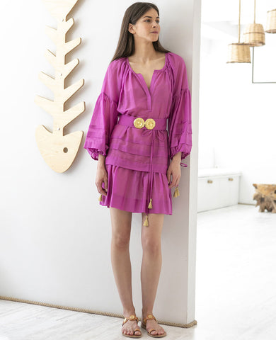 MYKONOS MINI KAFTAN DRESS