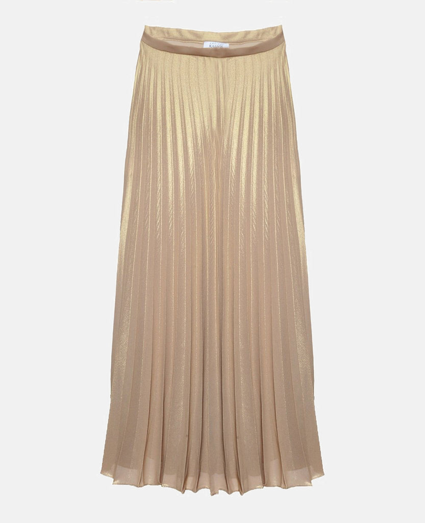 OLYMPIA GOLDEN PLEATED SKIRT