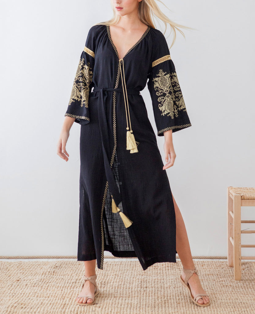 PENELOPE EMBROIDERED SHIRT DRESS