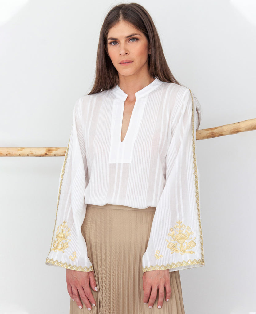 TRIKERI EMBROIDERED BLOUSE